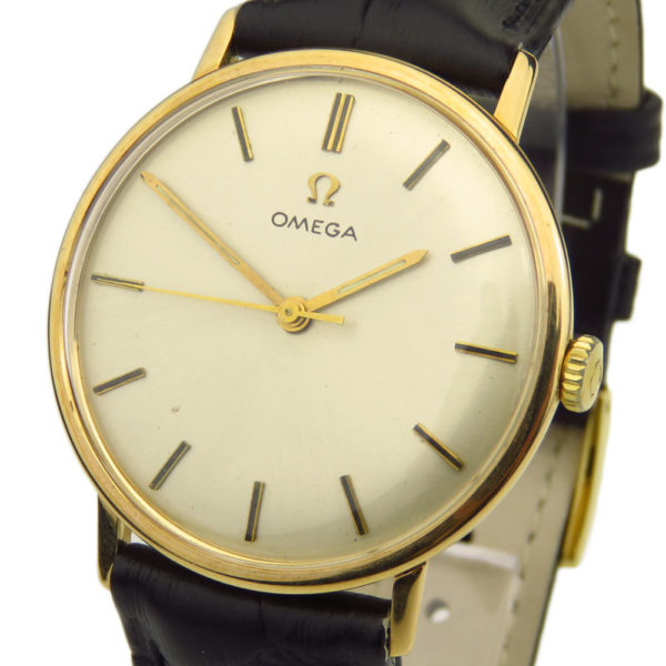 Omega Vintage 18k Gold Mechanical Wristwatch