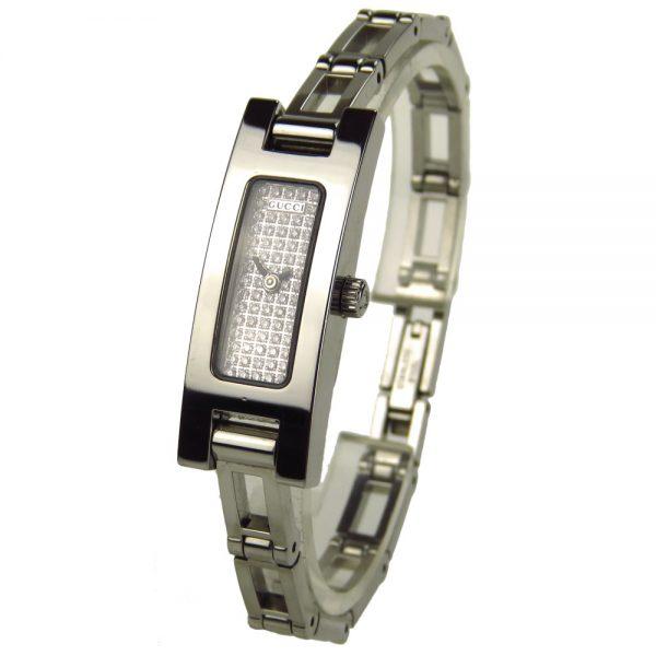 Gucci Ladies 3900L Diamond Pave Quartz YA039501