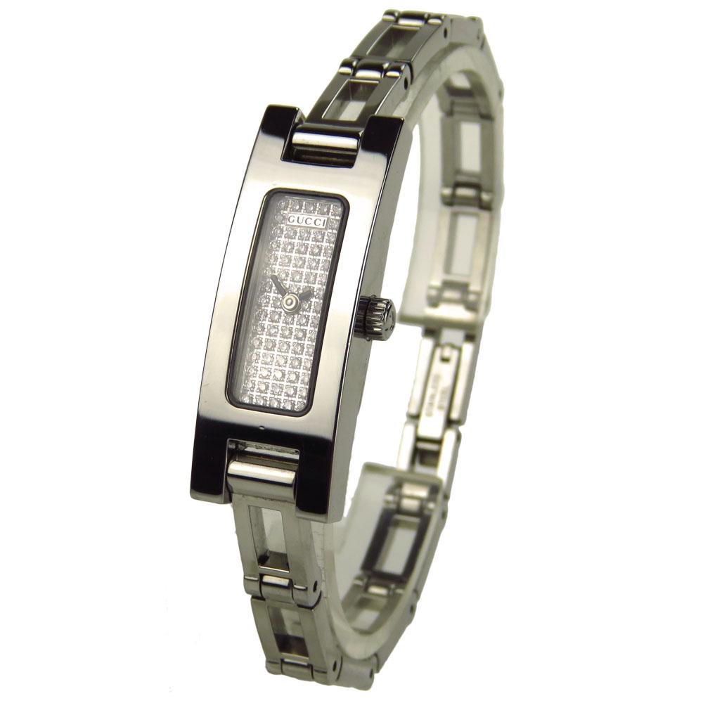 01a996e23bb02f Gucci Ladies 3900L Diamond Pave Quartz YA039501 - Parkers Jewellers