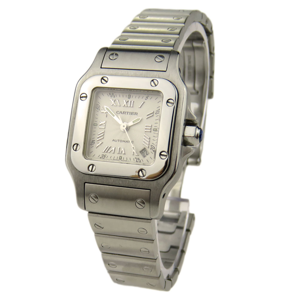 mens swisswatchexpo automatic steel santos cartier xl galbee watch f watches box