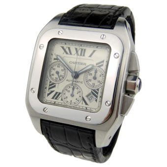 parkers jewellers pre owned vintage watch specialists cartier santos 100 chrono w20090x8