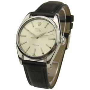 vintage rolex precision mechanical watch
