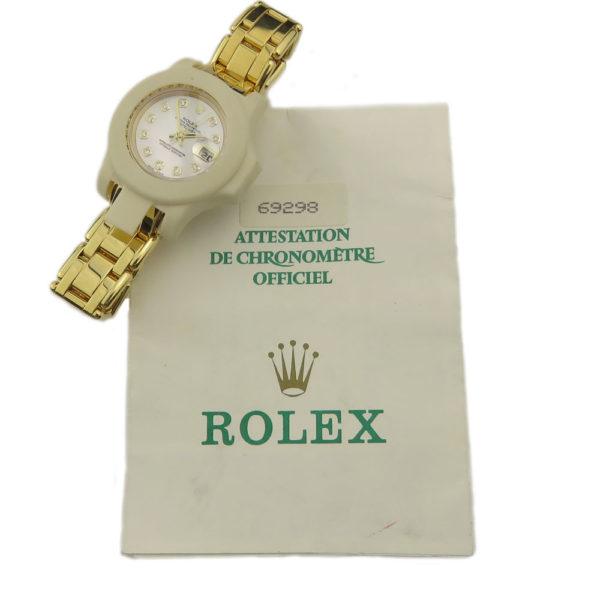 Rolex Pearlmaster Lady Datejust 18k 69298