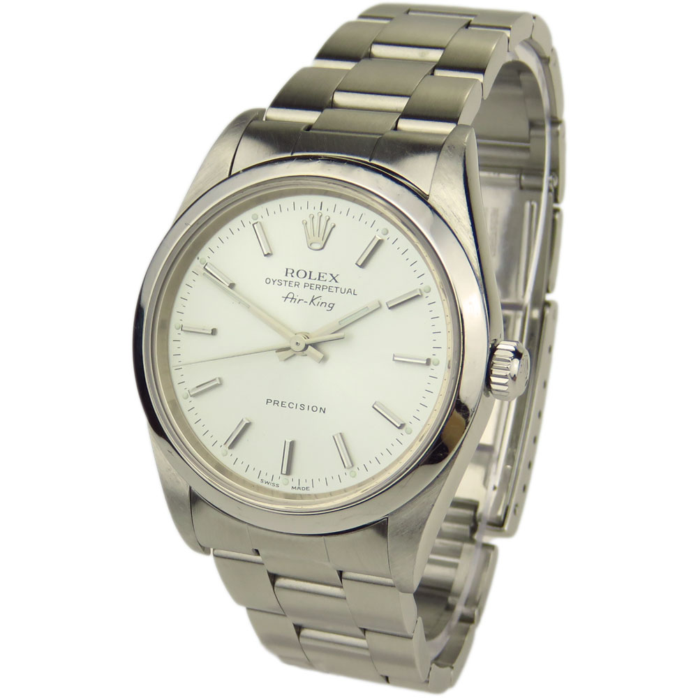 Rolex air king oyster perpetual 14000 parkers jewellers for Rolex air king