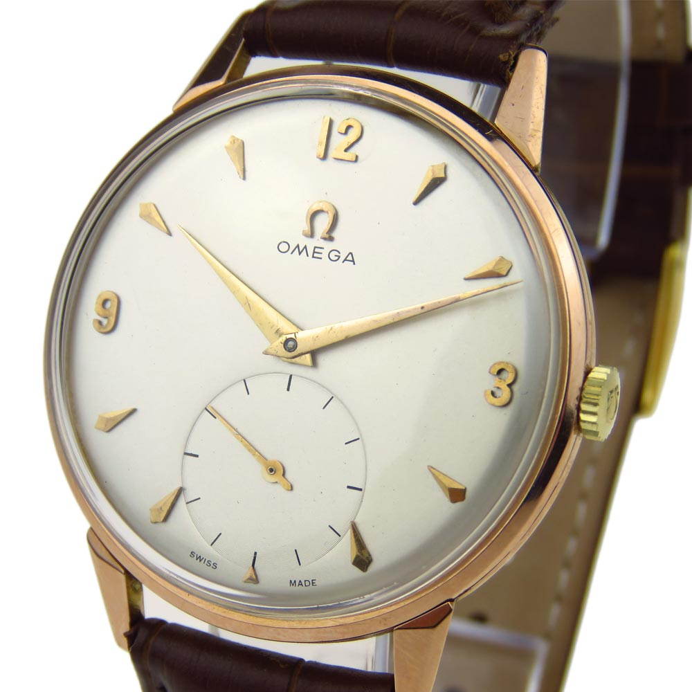 Omega Vintage Oversize 18k Gold Mechanical