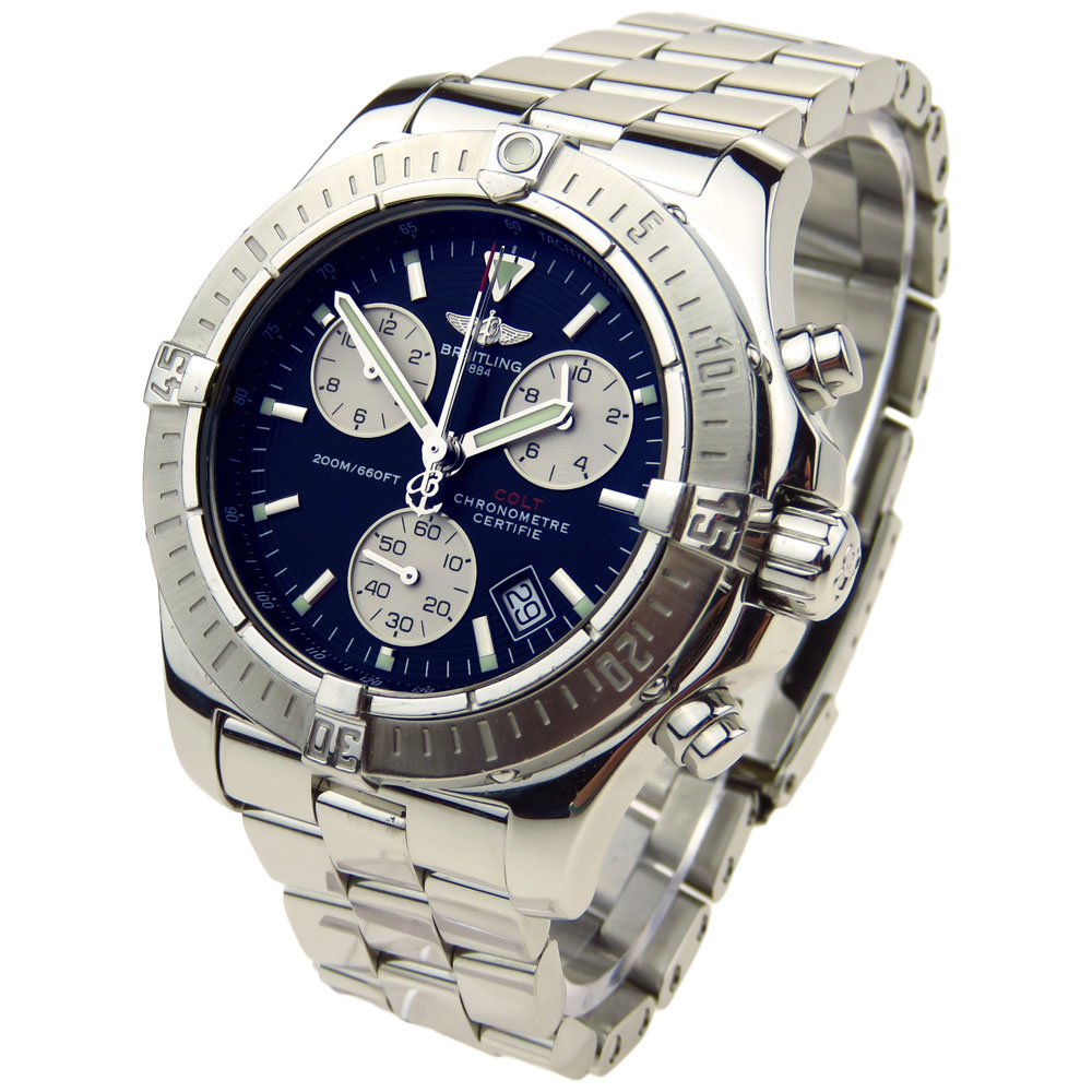 breitling colt chrono quartz a73380 parkers jewellers. Black Bedroom Furniture Sets. Home Design Ideas