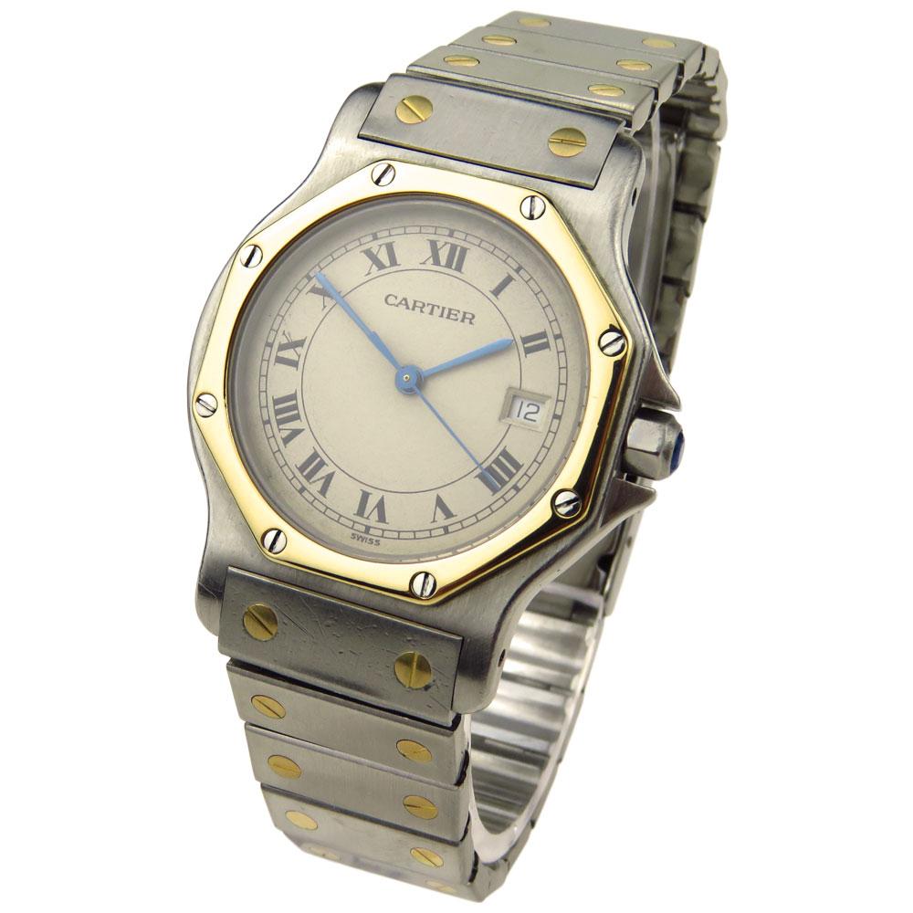 32c940f85af Cartier Santos Octagon Mid Size Quartz - Parkers Jewellers