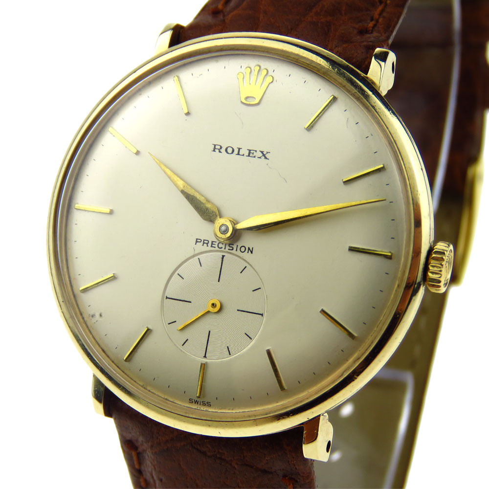Rolex Precision 9ct Gold Vintage Mechanical 12379 ...