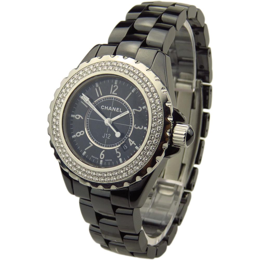 4076571cd95fa7 Chanel J12 33mm Diamond Quartz H0949 - Parkers Jewellers