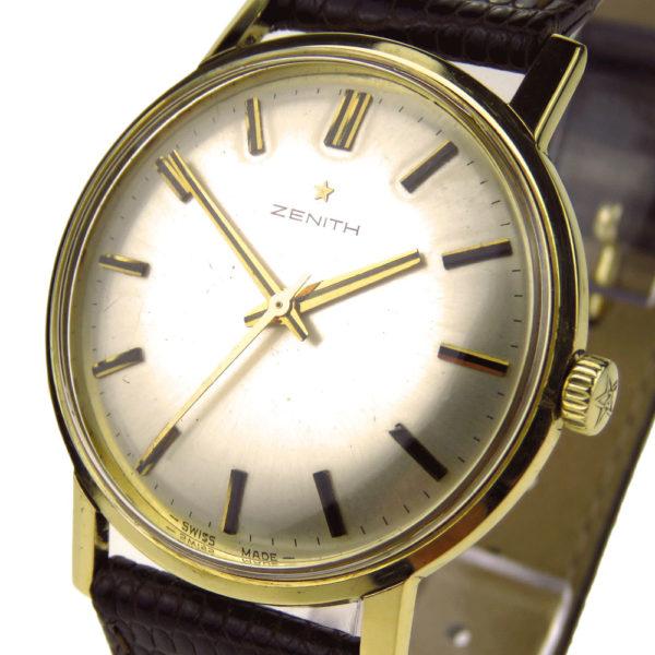 b31132e6e252 Zenith 18k Gold Vintage Mechanical Wristwatch