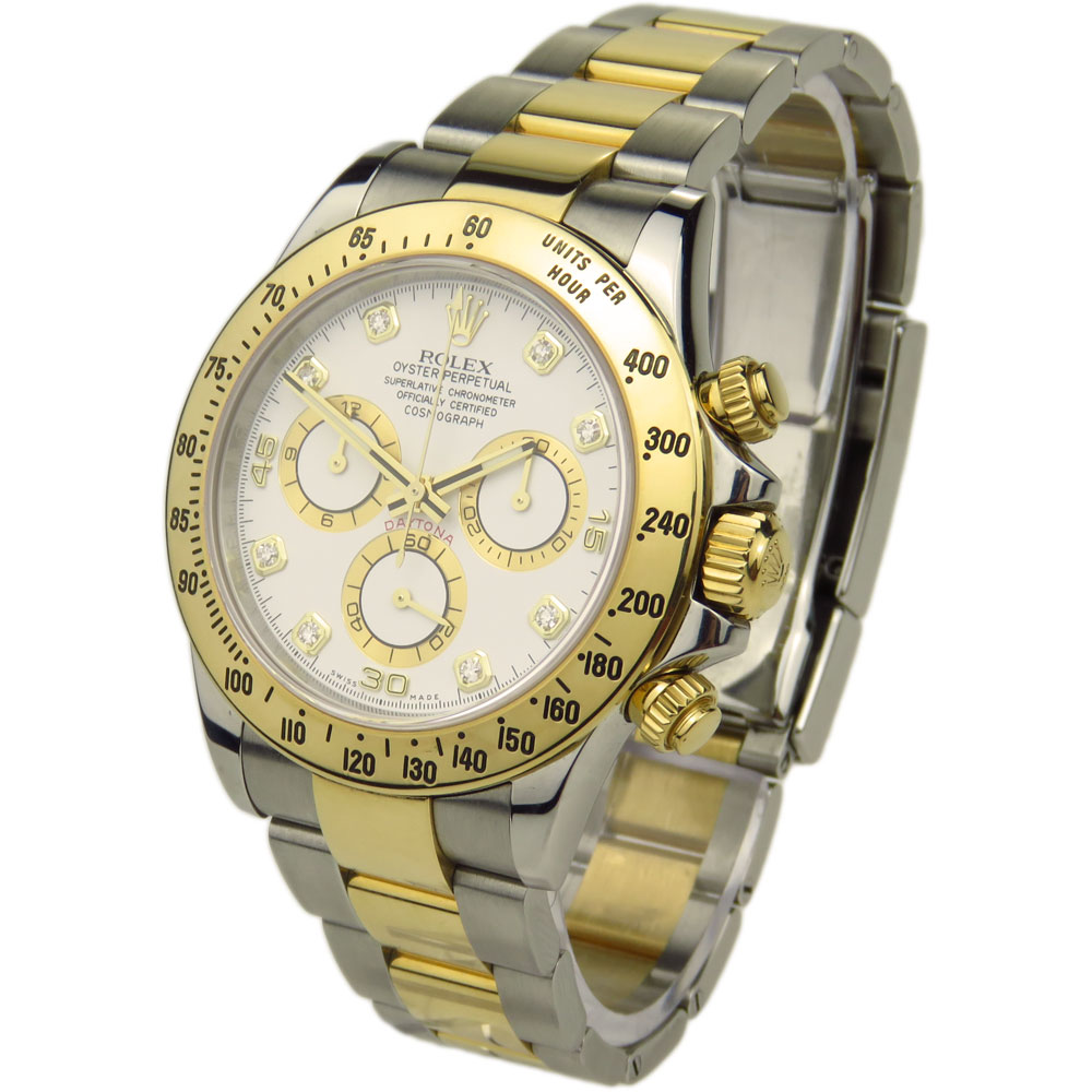 Rolex daytona steel gold 116523 parkers jewellers for Tag heuer daytona