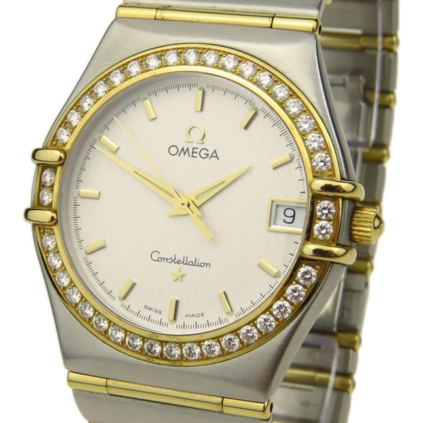 Omega Constellation Steel & Gold Diamond Bezel 1217.30.00