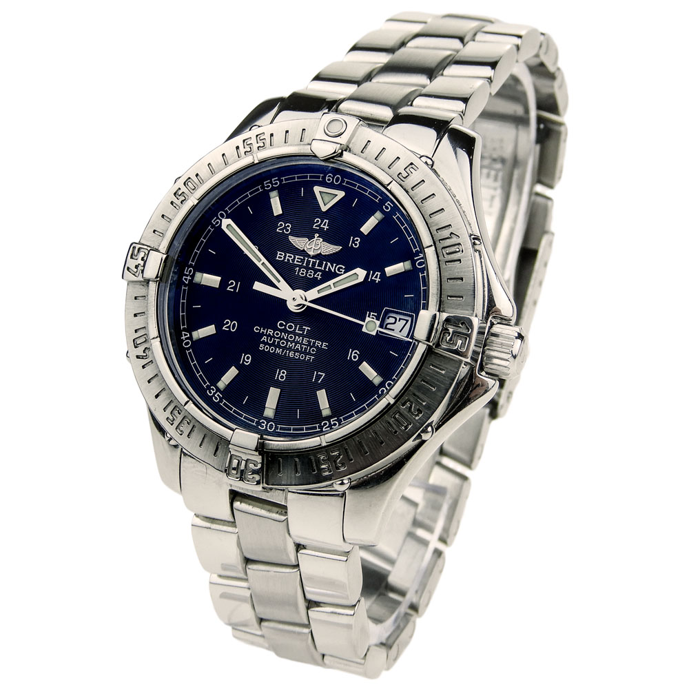 Breitling colt steel automatic a17350 parkers jewellers for Breitling automatic