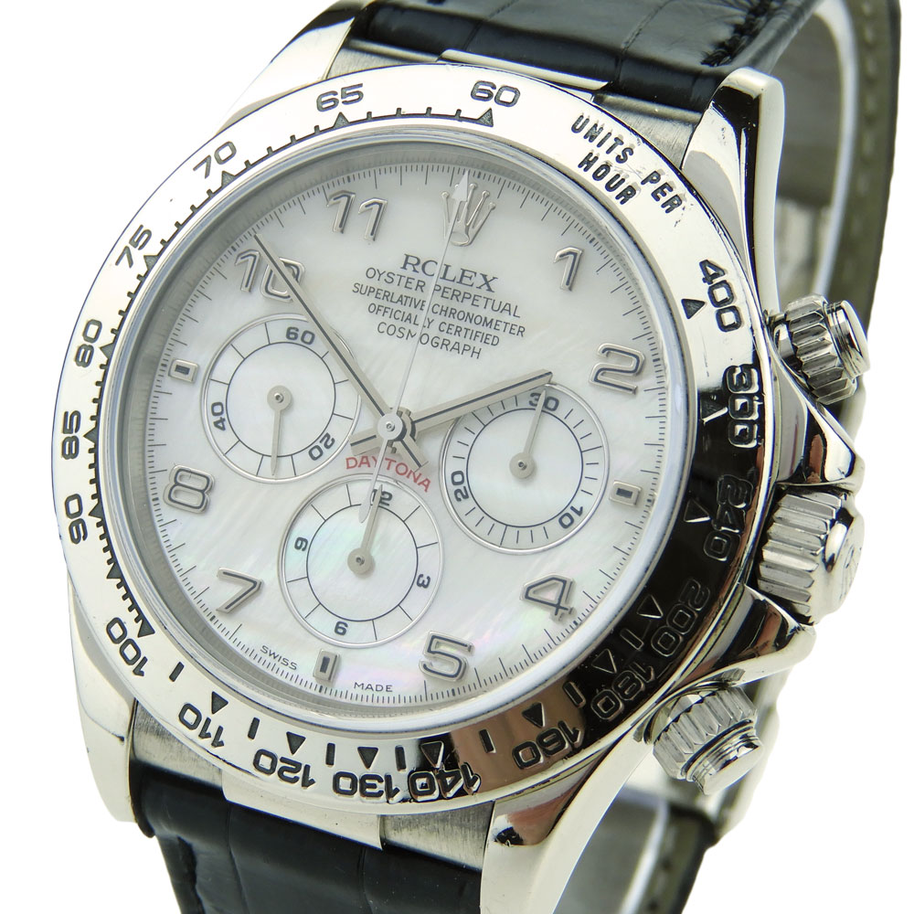 Rolex daytona cosmograph white gold 16519 parkers jewellers for Tag heuer daytona