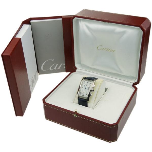 Cartier Tank Americaine Chronoflex 18k White Gold W2603356