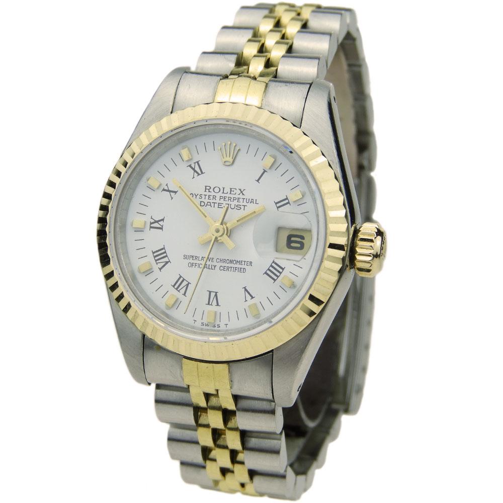 58fd477410f91 Rolex Lady Datejust Steel   Gold 69173 - Parkers Jewellers