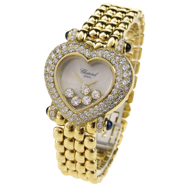 Chopard Happy Diamonds Watch With Matching Necklace & Earrings