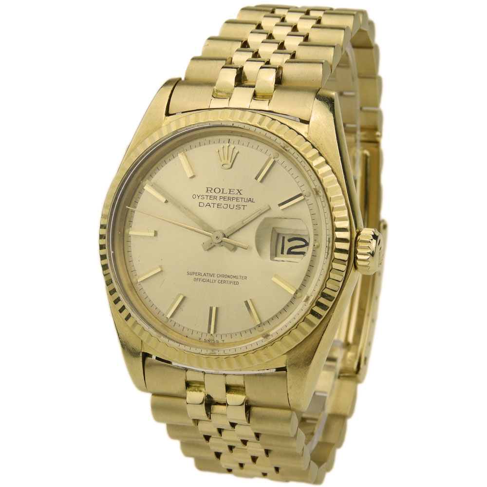 Rolex Datejust Oyster Perpetual 18k Gold 1601 - Parkers Jewellers 0c5e75f1d0c6