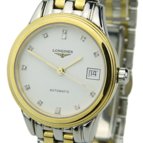 Longines Lady Flagship Steel & Gold Automatic L4.274.3.27.7