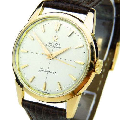 Omega Seamaster 18k Vintage Automatic Rose Gold Wristwatch