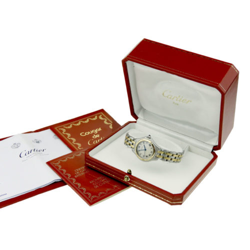 Cartier Lady Cougar Steel & Gold Quartz 187906