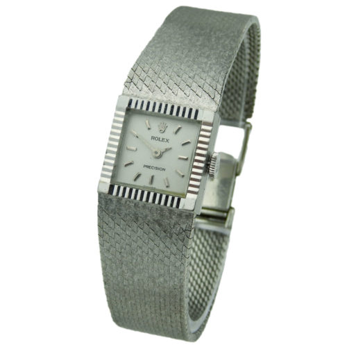 Rolex Precision Ladies 18k White Gold Mechanical