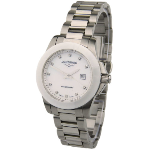 Longines Lady Conquest Steel & Ceramic L3.257.4.87.7