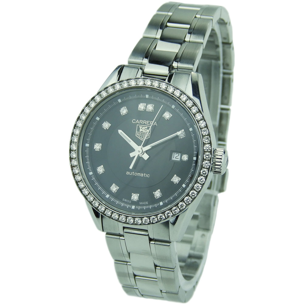 e70115a50506 Tag Heuer Ladies Carrera Automatic WV2412 - Parkers Jewellers