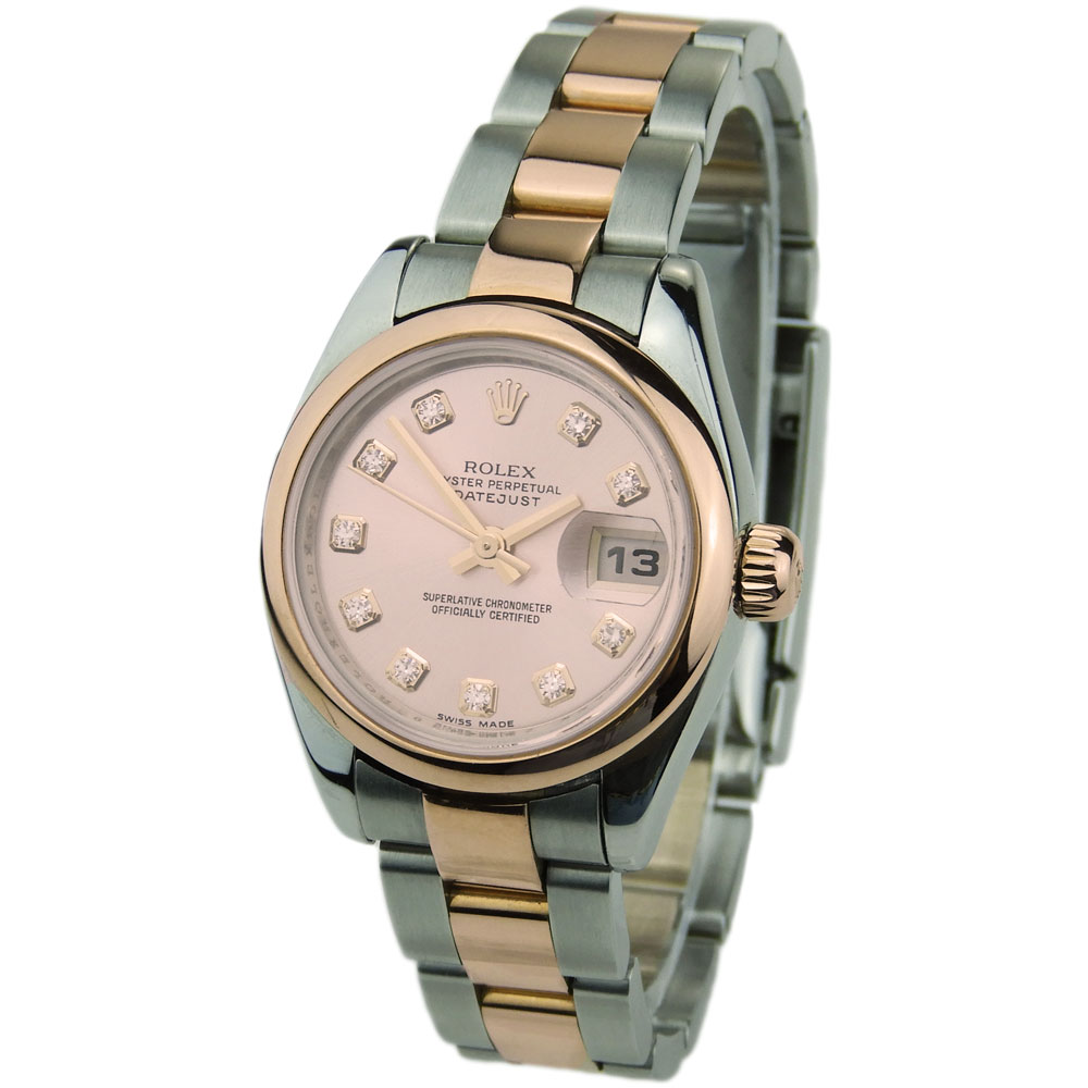 2cacffea03d Rolex Lady Datejust 26mm Steel and Rose Gold 179161 - Parkers Jewellers
