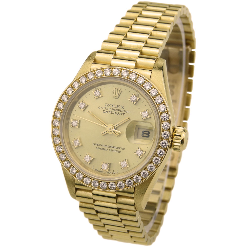 Rolex Lady Datejust Oyster Perpetual 18k Gold 69178 - Parkers Jewellers 0ee08cfbb429