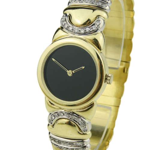 Bvlgari Parentesi 18k Gold Diamond Set Bangle JR0811L