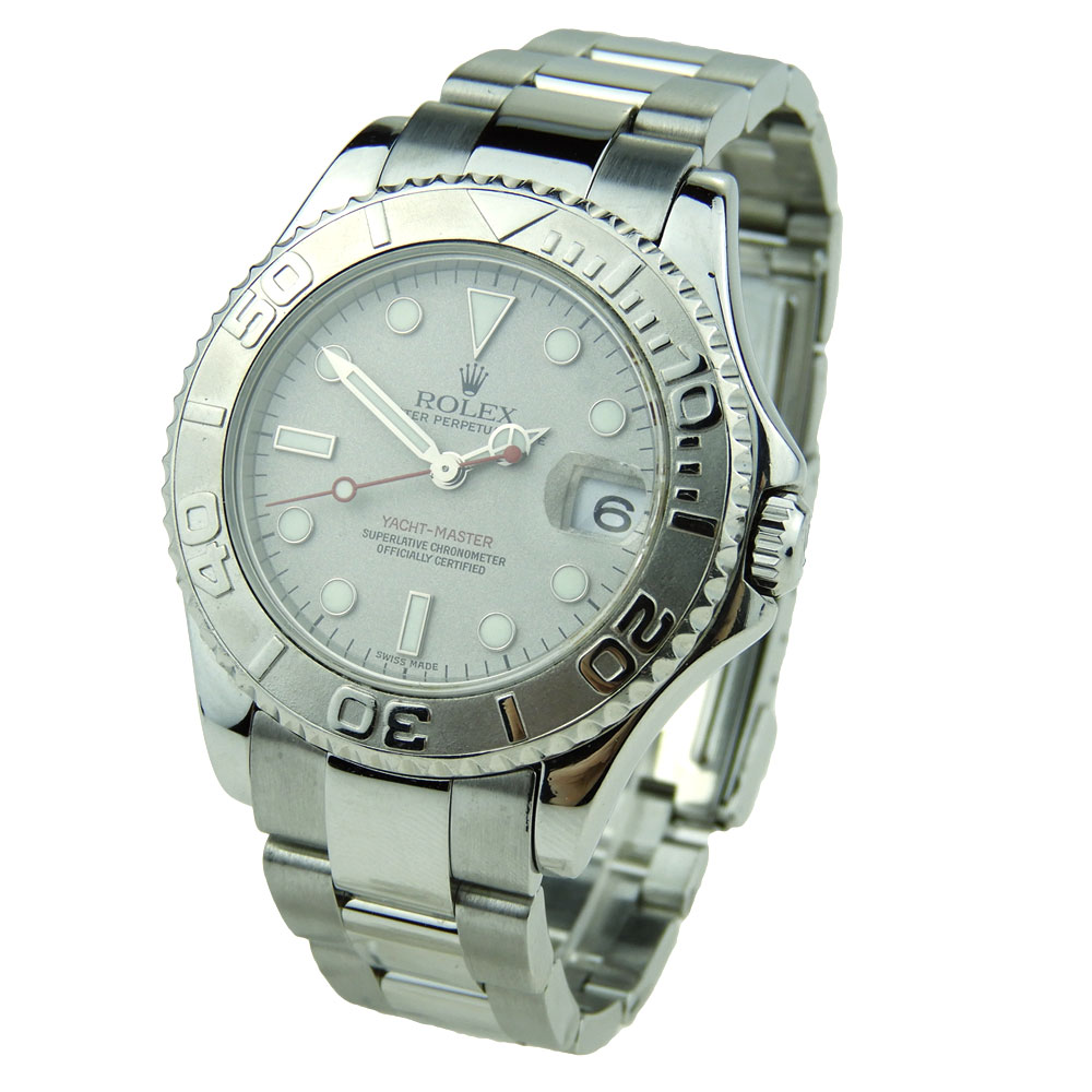 ada103c4064 Rolex Yacht-Master Mid-Size Steel and Platinum 168622 - Parkers ...