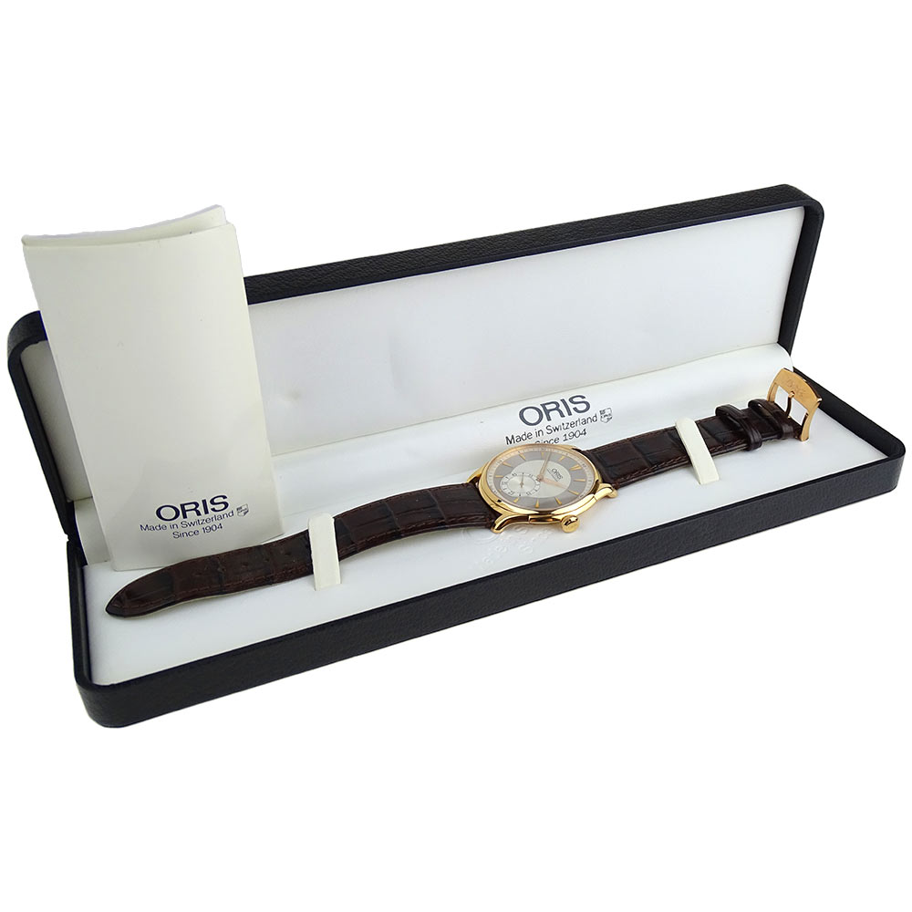 Oris Artelier Small Seconds 18k Gold Mechanical 01 396 7580 6051